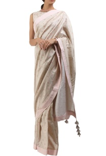 grey-cotton-hand-painted-sari-with-blouse
