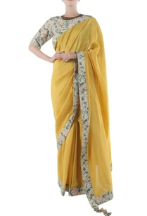 yellow-chanderi-sari-with-jaal-border-blouse
