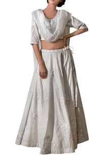 ivory-chanderi-jacquard-ribbon-flower-lehenga-set