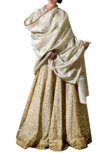 gold-tissue-silk-sequin-bridal-lehenga-set