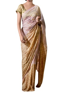 beige-pink-chiffon-ribbon-flower-embroidered-sari-with-blouse