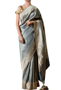 slate-grey-silk-sari-with-bunch-embroidery-blouse