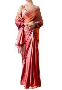 deep-pink-tassel-satin-sari-with-blouse
