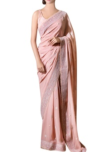 ash-pink-hand-embroidered-chiffon-sari-with-blouse