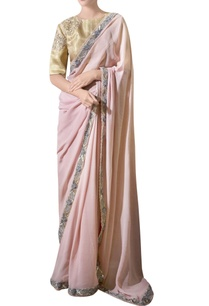 ash-pink-hand-embroidered-georgette-sari-with-blouse