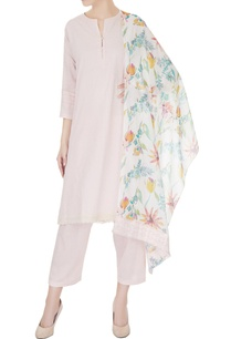 pastel-pink-straight-kurta-with-pants-foil-printed-dupatta