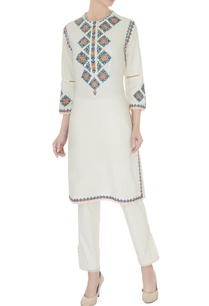 ivory-pure-cotton-embroidered-kurta-with-pants