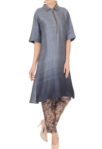 blue-raw-silk-collar-kurta-with-pants