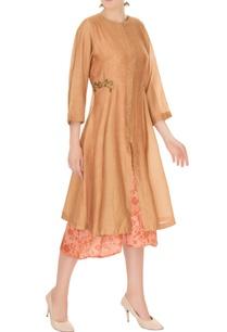 beige-chanderi-jacket-with-mesh-slip-dress