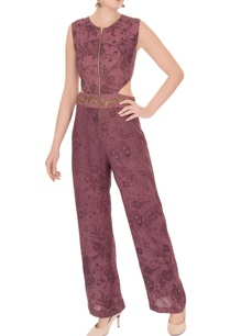 purple-mesh-printed-jumpsuit-with-embroidered-belt
