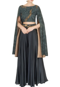 slate-grey-cotton-blend-cape-blouse-with-sharara-pants