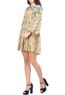 multicolored-voile-japanese-floral-printed-dress