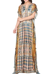 multicolored-japanese-floral-printed-satin-maxi-dress