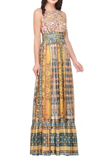 multicolored-japanese-floral-printed-tiered-maxi-dress