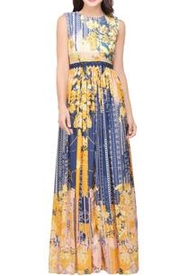 multicolored-jacquard-maxi-dress