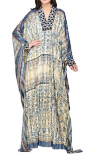 multi-colored-satin-printed-embroidered-kaftan
