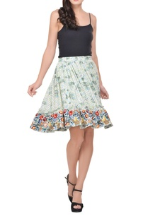 mint-green-white-embroidered-skirt