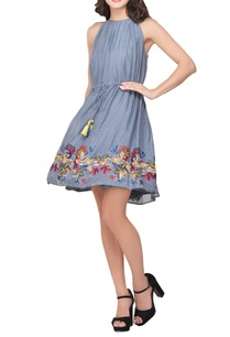 blue-embroidered-tunic-dress