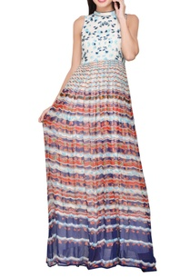multi-colored-viscose-georgette-printed-tunic-dress