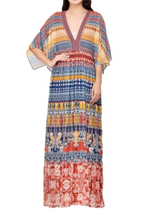 multi-colored-poly-georgette-printed-kaftan