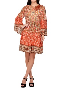 multi-colored-viscose-crepe-printed-tunic-dress
