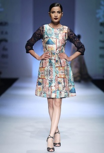 multi-colored-dupion-net-printed-tunic-dress