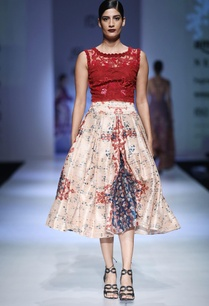 multi-colored-dupion-net-printed-calf-length-skirt-with-embroidered-blouse