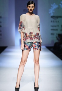 multi-colored-dupion-printed-shorts-with-embroidered-blouse
