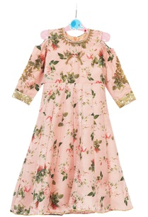 pink-floral-printed-cold-shoulder-hand-embroidered-gown