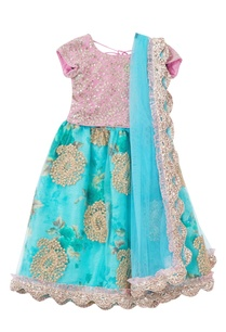 blue-floral-net-lehenga-with-pink-net-blouse-dupatta