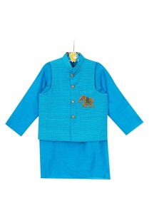 blue-cotton-silk-nehru-jacket-with-kurta