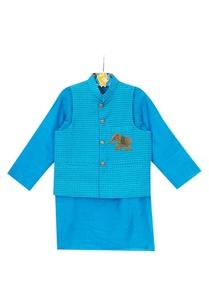 blue-cotton-silk-nehru-jacket-with-kurta