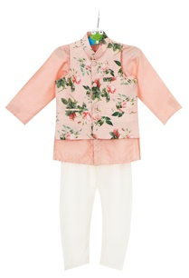 peach-crepe-silk-floral-jacket-set