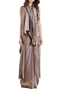 fog-grey-habutai-silk-draped-skirt-crop-top