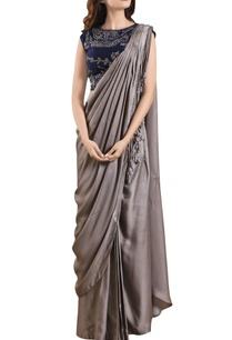 fossil-grey-raw-silk-three-piece-concept-sari