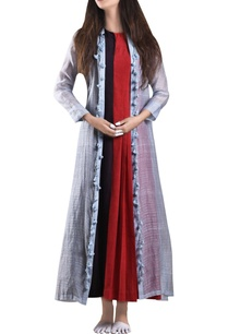 red-dual-color-maxi-dress-with-zari-jacket