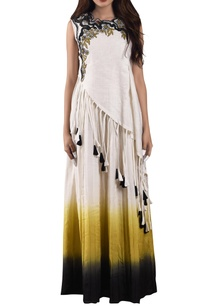 white-yellow-ombre-dress-with-asymmetric-top