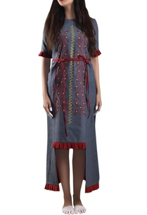 blue-hand-woven-khadi-shift-dress