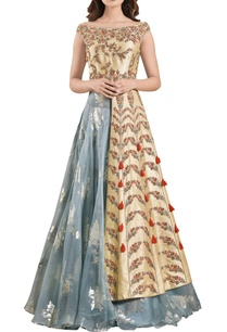 yellow-thread-embroidered-jacket-with-organza-dramatic-lehenga