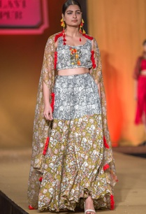 multicolored-forest-printed-lehenga-set