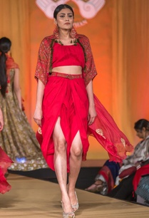 red-embroidered-cape-with-tulip-pants-crop-top