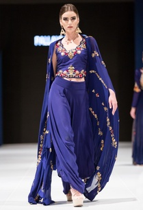 midnight-blue-resham-embroidered-crop-top-with-pants-cape