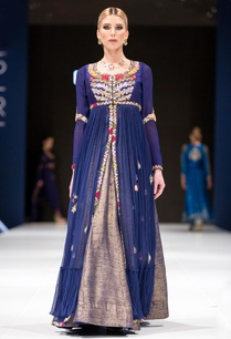 midnight-blue-embroidered-jacket-with-raw-silk-lehenga