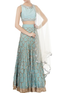 powder-blue-chiffon-silk-net-mukaish-embroidered-lehenga-with-blouse-dupatta
