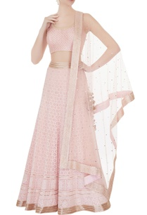 powder-pink-chikankari-embroidered-lehenga-set