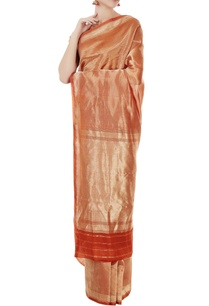 orange-mulberry-silk-solid-barkat-sari-with-blouse-piece
