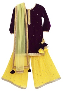 purple-velvet-kurta-with-sharara-pants-dupatta