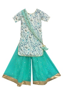 off-white-printed-kurta-with-blue-sharara-pants-dupatta