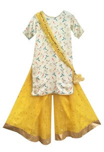 off-white-printed-kurta-with-yellow-sharara-pants-dupatta