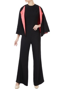 black-korean-crepe-jumpsuit-with-cape